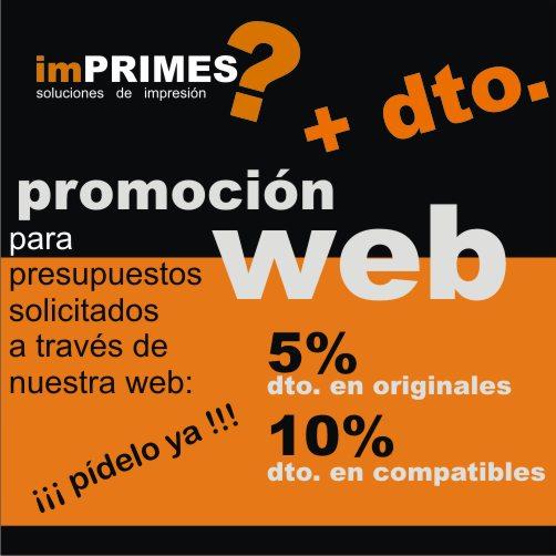 PROMOCIÓN + dto. WEB